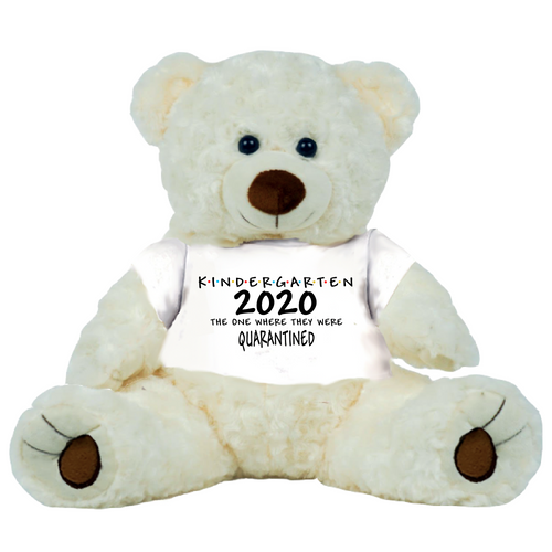 Cream Bear Class of 2020 PreSchool or Other Class Quarantined Student Gift Graduation Personalized 16