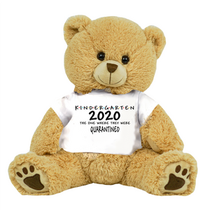 "Tan Bear Class of 2020 Kindergarten or Other Class Quarantined Student Gift Graduation Personalized 16"" Teddy Bear Choose Bear Colors Personalized Name"
