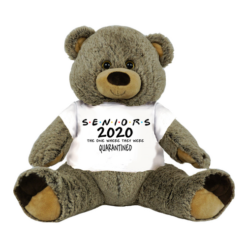 Gray Bear Class of 2020 Seniors or Other Class Quarantined Student Gift Graduation Personalized 16