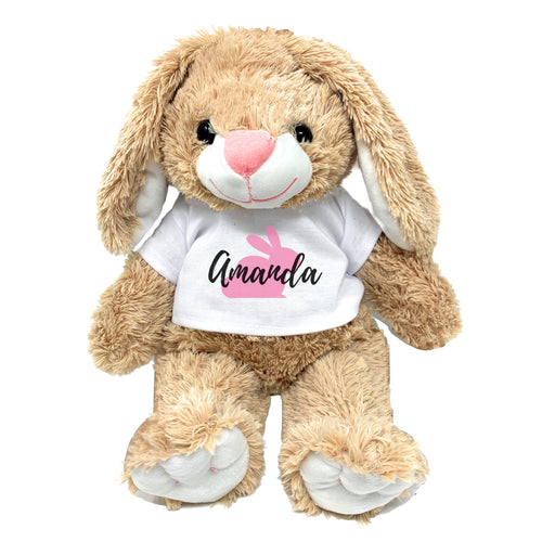 Pink Bunny Graphic Personalized Easter Bunny 16