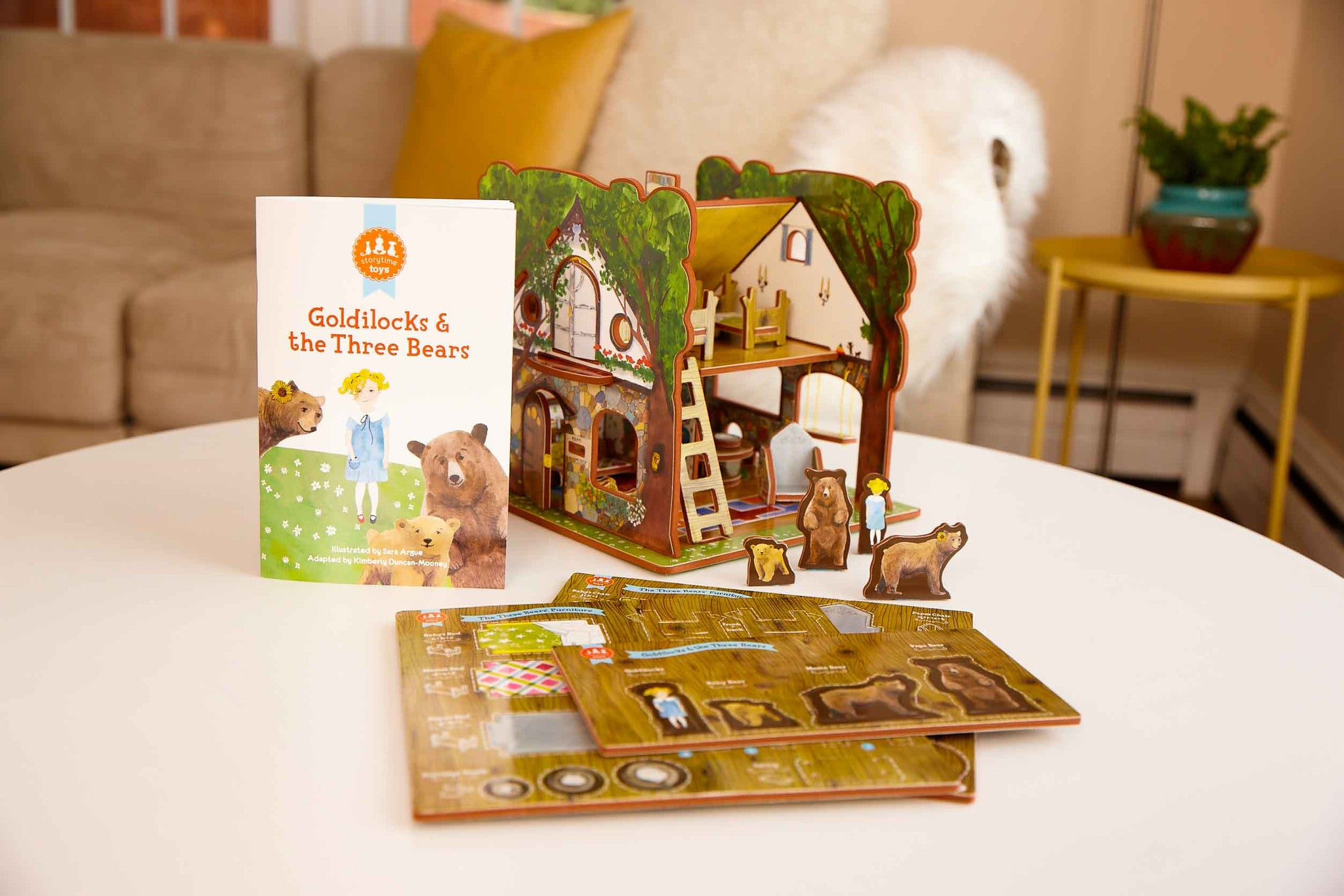 #1103 Goldilocks & the Three Bears Book & Play Set - WHOLESALE Case of 3