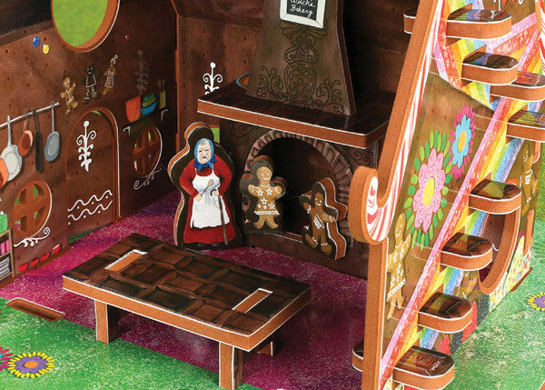 Interior of educational dollhouse