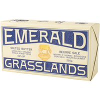 BUTTER SALTED, EMERALD GRASSLANDS, ORGANIC, 250g