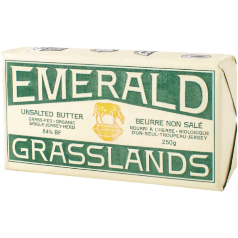 BUTTER UNSALTED, EMERALD GRASSLANDS, ORGANIC, 250g