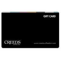 $25 Creeds Coffee Bar Gift Card