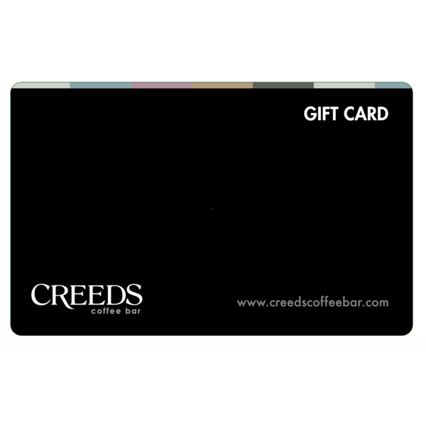 $100 Creeds Coffee Bar Gift Card