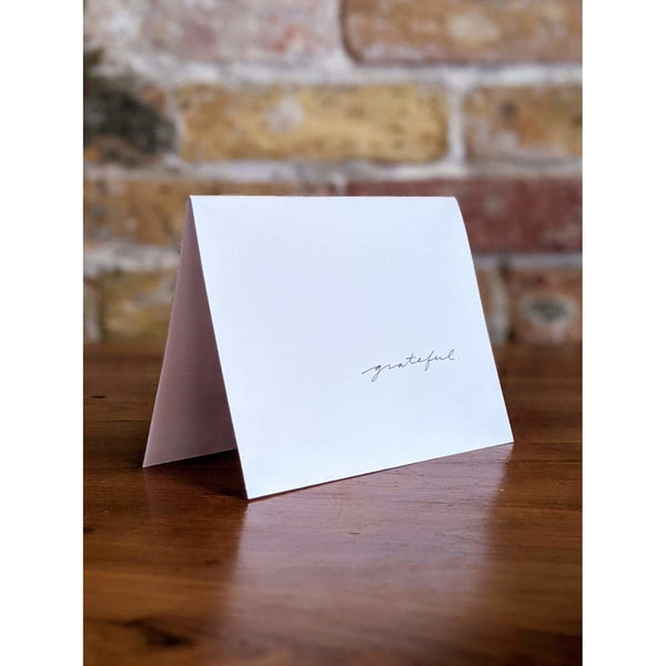 GRATEFUL, GREETING CARD