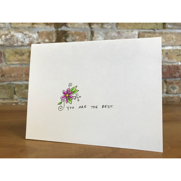 YOU ARE THE BEST, GREETING CARD