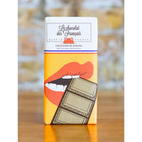 MILK CHOCOLATE WITH HAZELNUTS BAR, LIPS, LE CHOCOLATE DES FRANCAIS