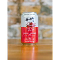 HARD SPARKLING WATER, MUSKOKA BREWERY - CRANBERRY & BLOOD ORANGE