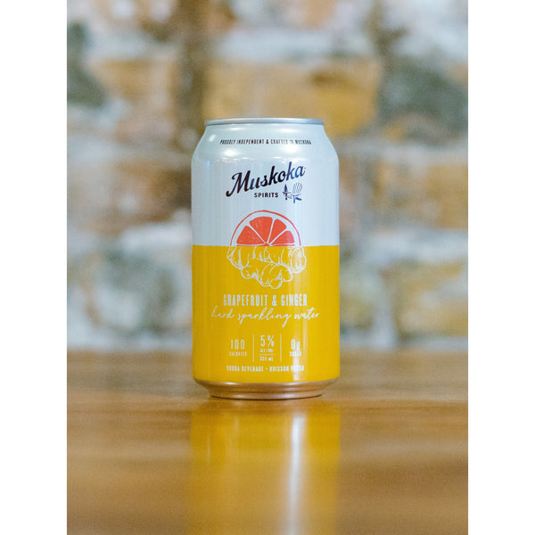 HARD SPARKLING WATER, MUSKOKA BREWERY - GRAPEFRUIT & GINGER
