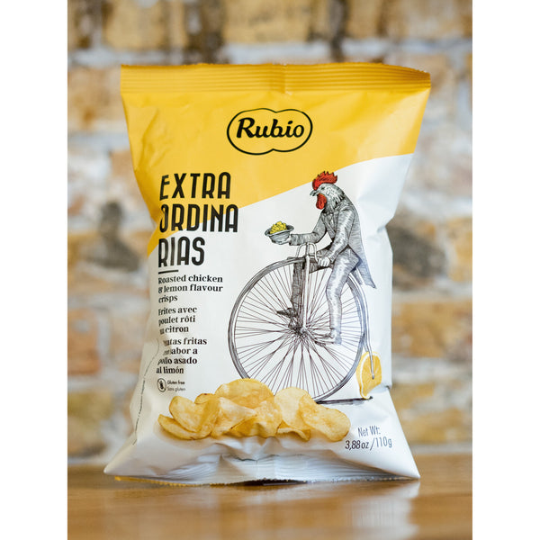 ROASTED CHICKEN & LEMON FLAVOURED CHIPS, EXTRAORDINARIAS, RUBIO