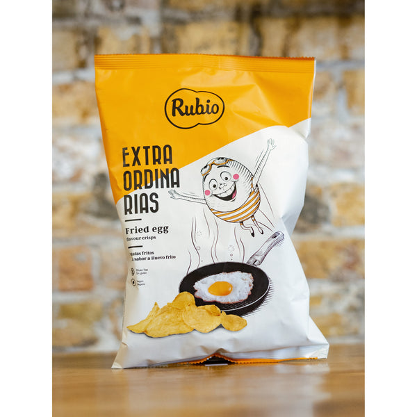 FRIED EGG FLAVOURED CHIPS, EXTRAORDINARIAS, RUBIO