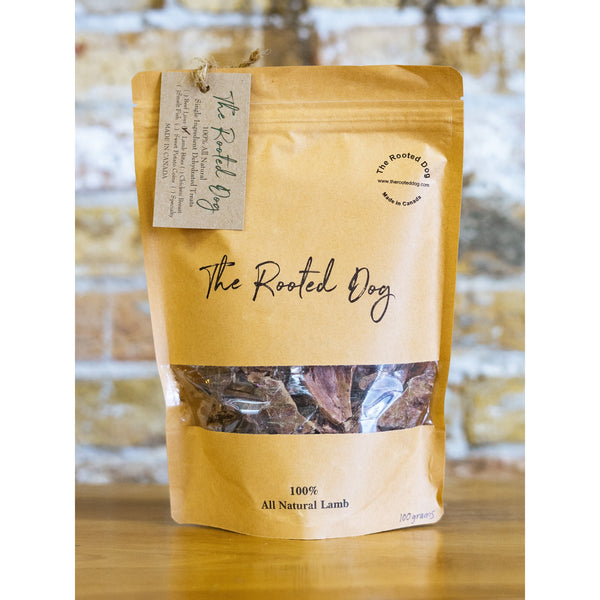 LAMB BITES GOURMET DOG TREATS, THE ROOTED DOG