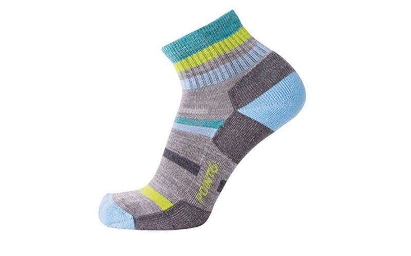 Point6 37.5 Hiking Mixed Stripe Light Mini Crew Socks
