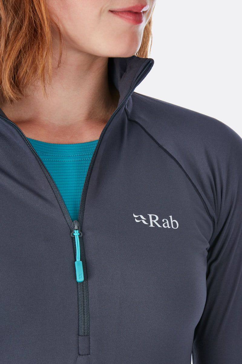 Rab Flux Womens Pull-On Top, Blue Print
