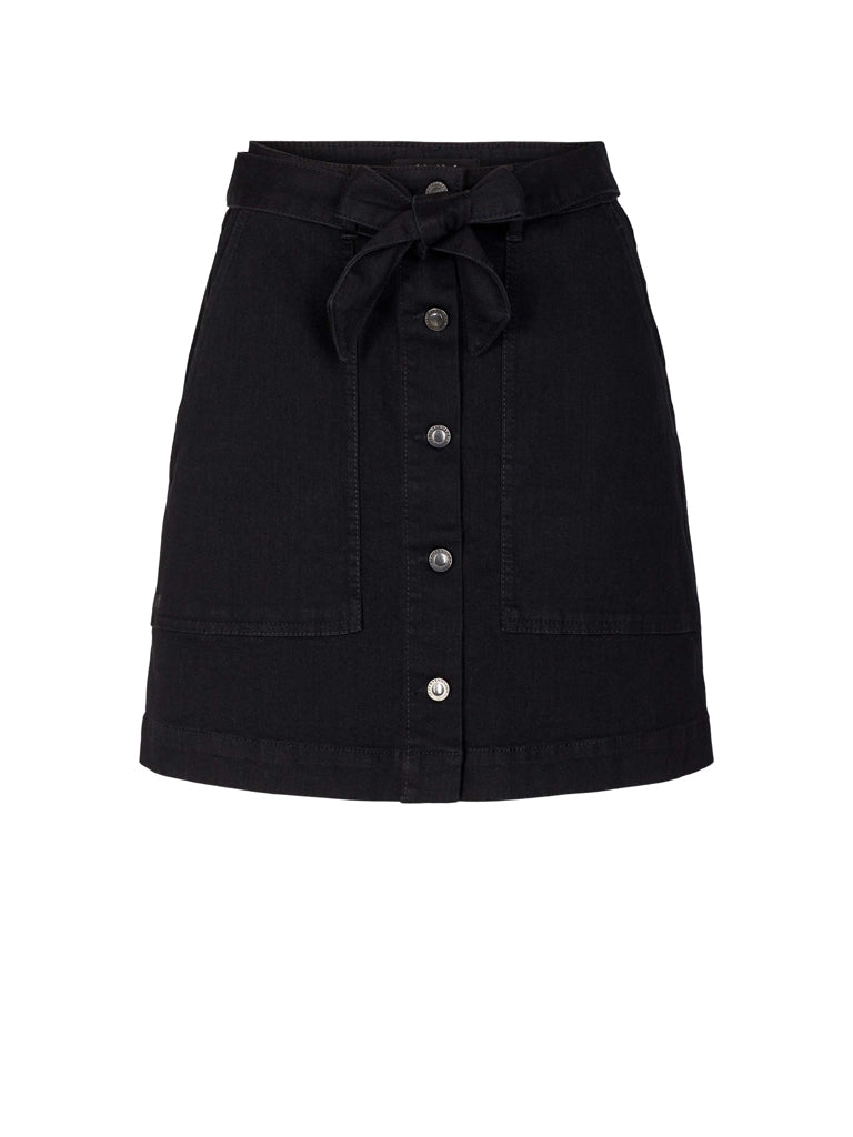 FREJA WORKER SKIRT WASH SOFT BLACK