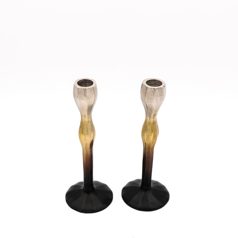 Metal Gradient Candle Holder Set