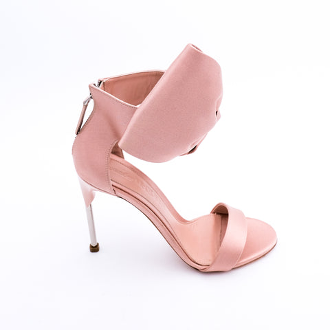 Satin Bow Stiletto Sandals