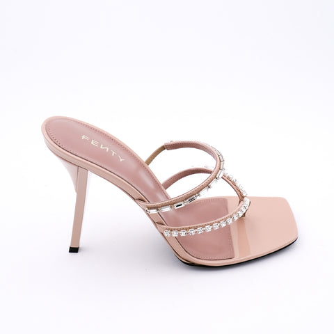 Embellished T-Heel Strap Sandals