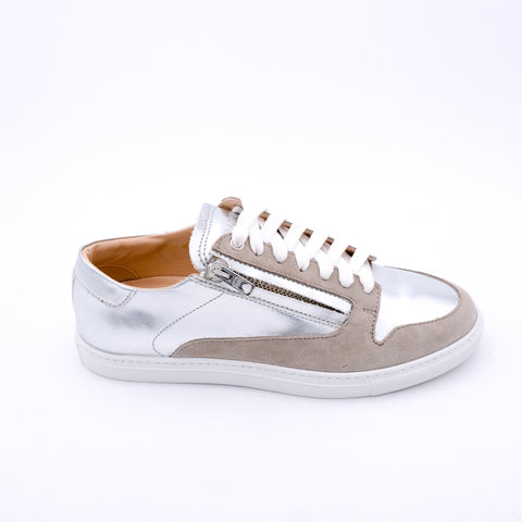Metallic Zipped Sneakers