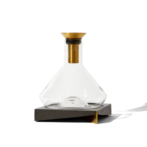Decanter + Wood Display
