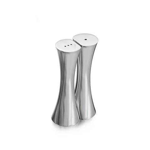 Silver Salt + Pepper Shakers