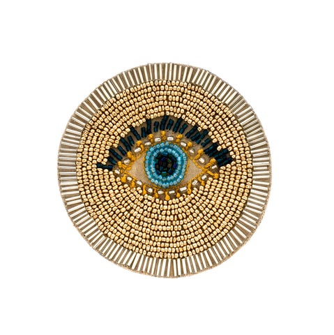 Beaded Evil Eye Coaster Set
