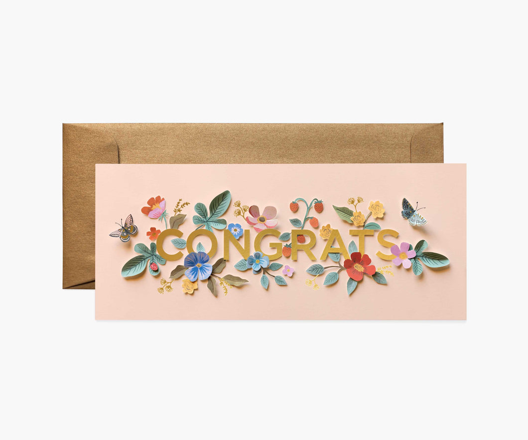 Floral Cut Out Congrats Card