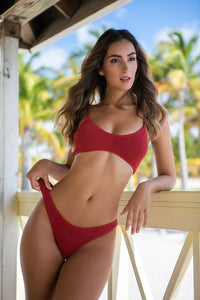LOVE AND BIKINIS BARCELONA BURGUNDY BOTTOM