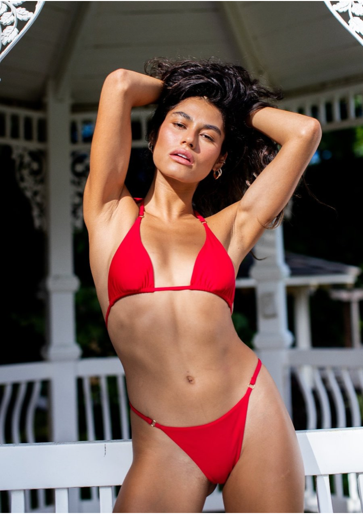 Sundaze Bikinis Nalani String Bottom Red