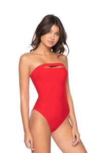 PQ SWIM SABRINA ONE PIECE RED CORAL