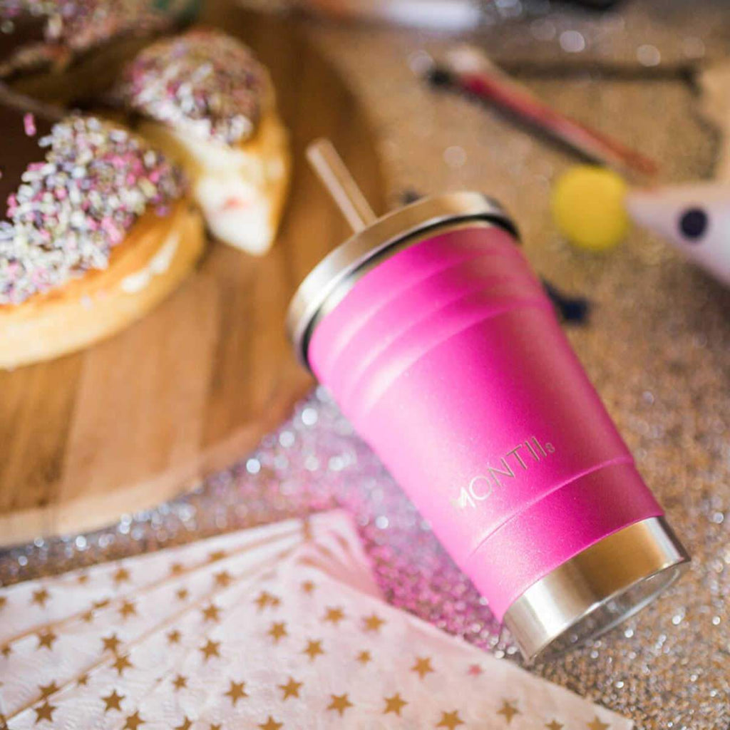 MontiiCo - Mini Smoothie Cup [Glitter Magenta]