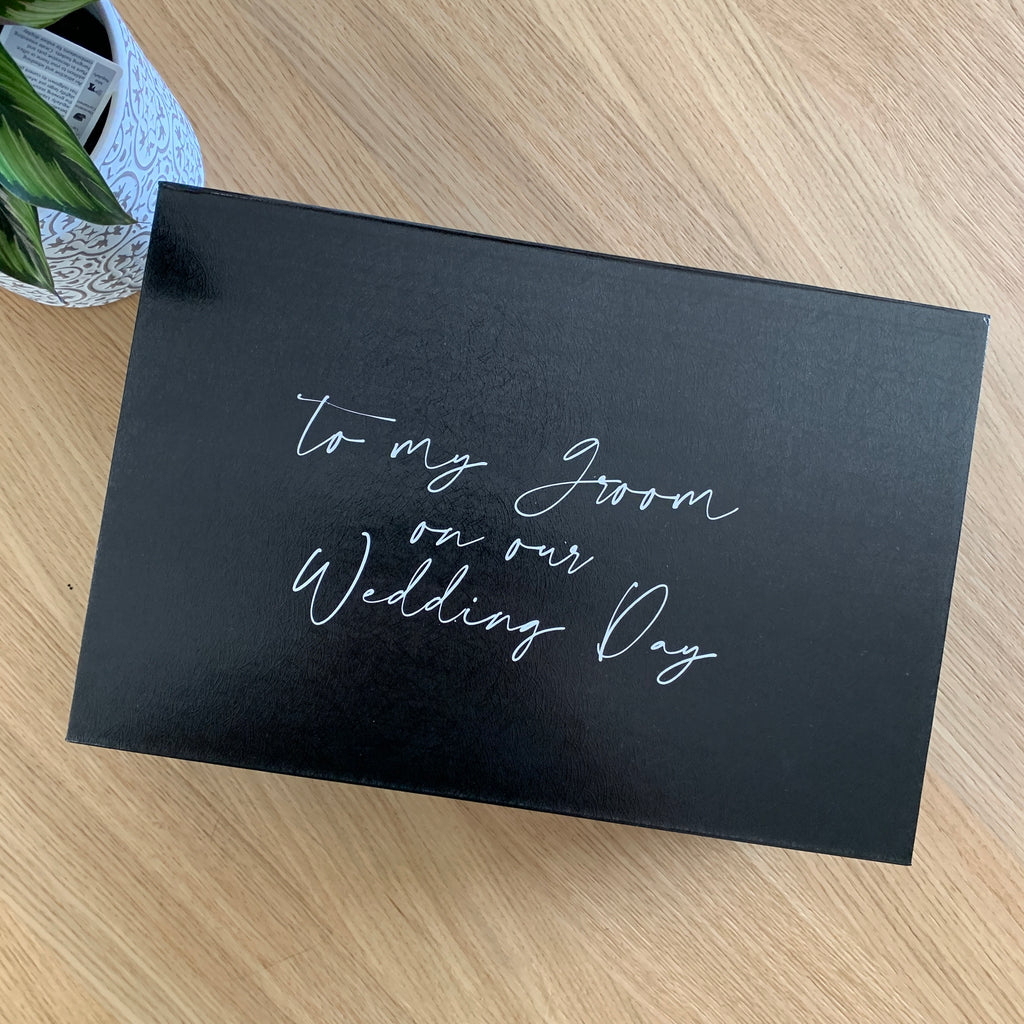 """To my Groom on our Wedding Day...""  -  Gift Box [Empty]"