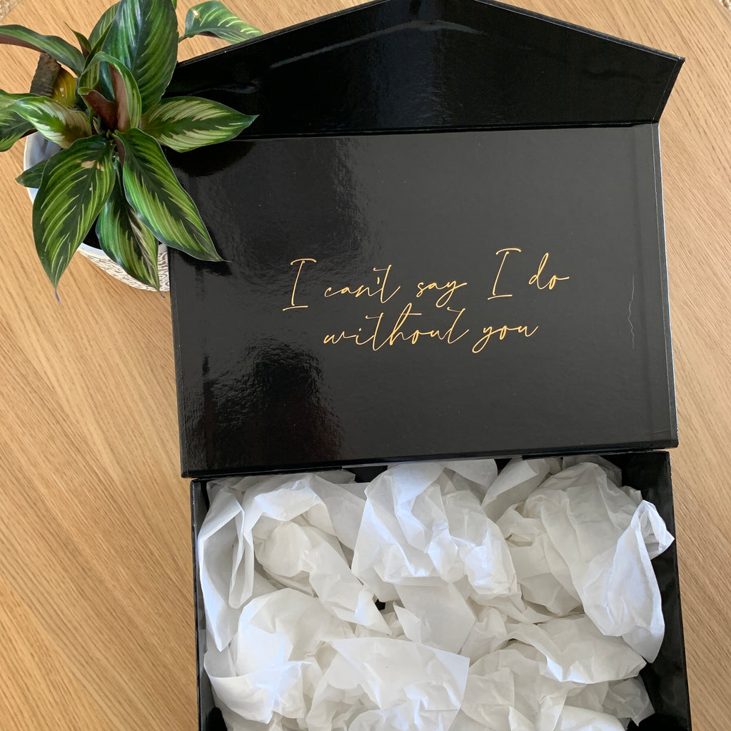 """I can't say I do without you . . ""  -  Gift Box [Empty]"