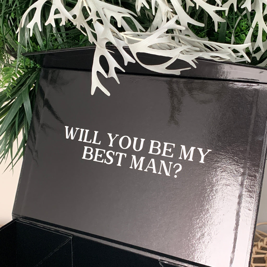 Will You Be My Groomsman/Best Man . . Gift Box [Empty]