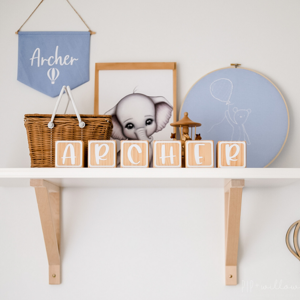 Personalised Wooden Name Blocks