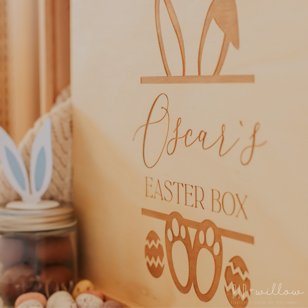 Personalised Lid for Easter Keepsake Box - LID ONLY