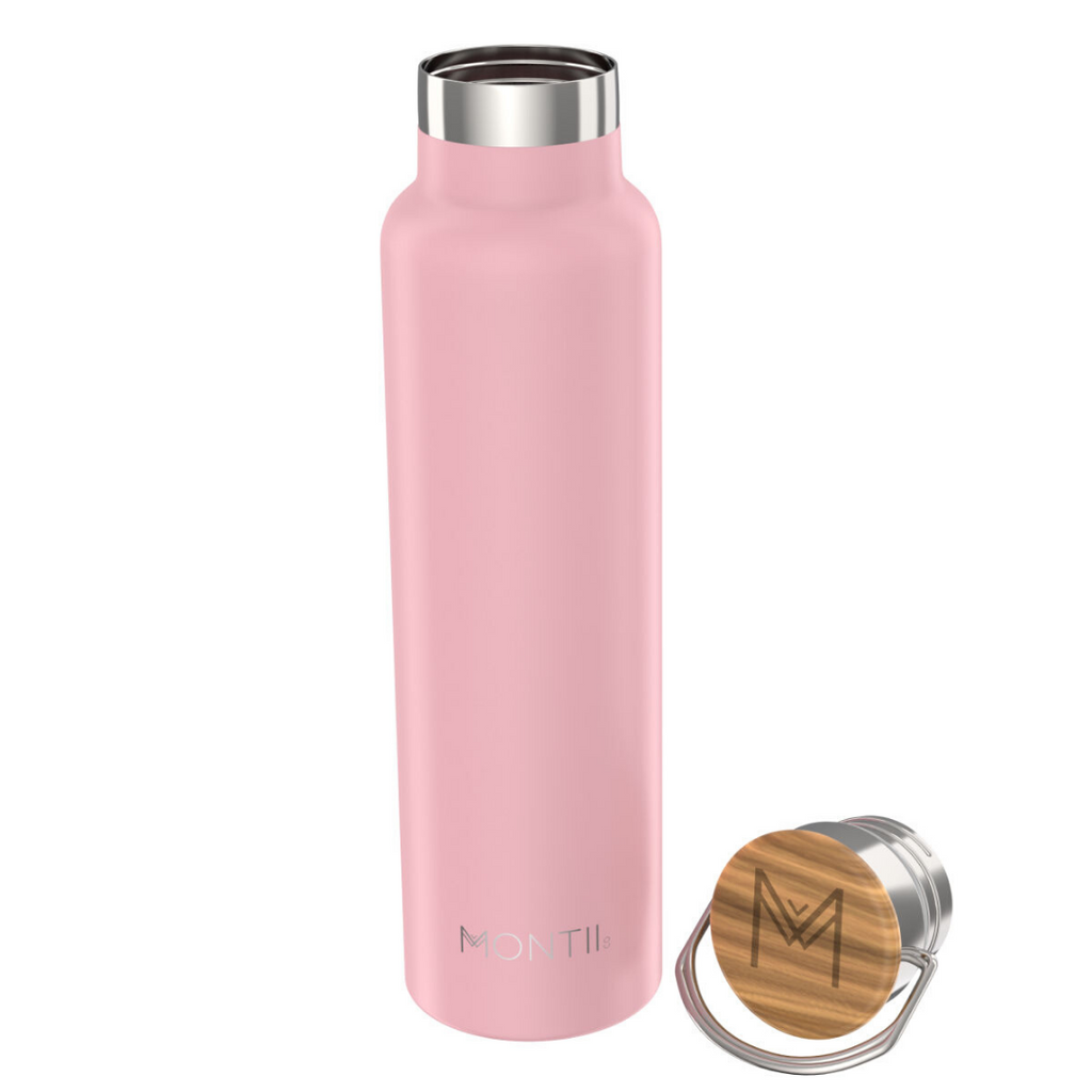 Montiico - 1L Mega Drink Bottle [Dusty Pink]