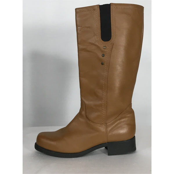 Henri Pierre Pull On Leather Boots - size 8