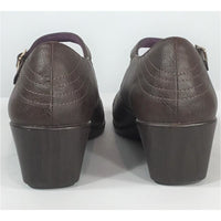 Vionic Brown Wedge Mary Janes  (size 6; 37)