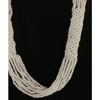 Tiny White Beads on Multi-Strand Necklace