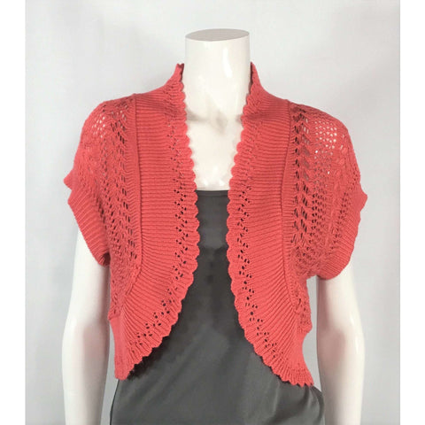 Robbie Bee Coral Shrug Cardigan - Discoveries size S