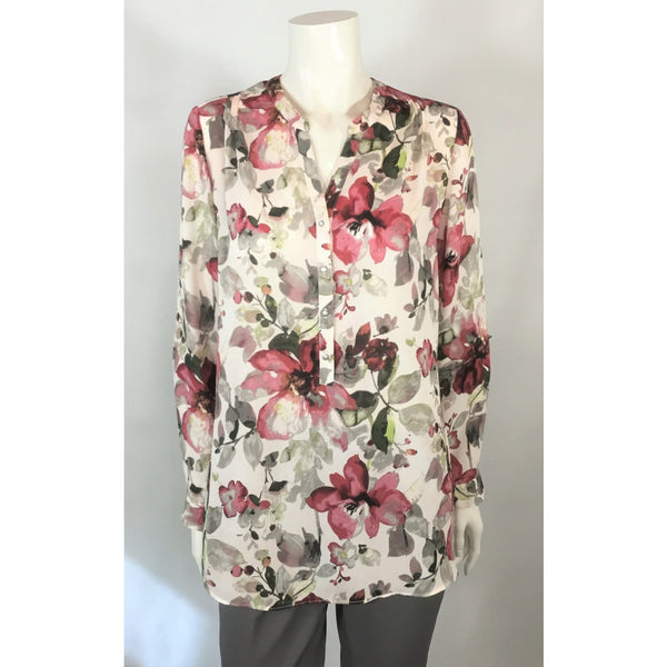 Sung burgundy floral blouse