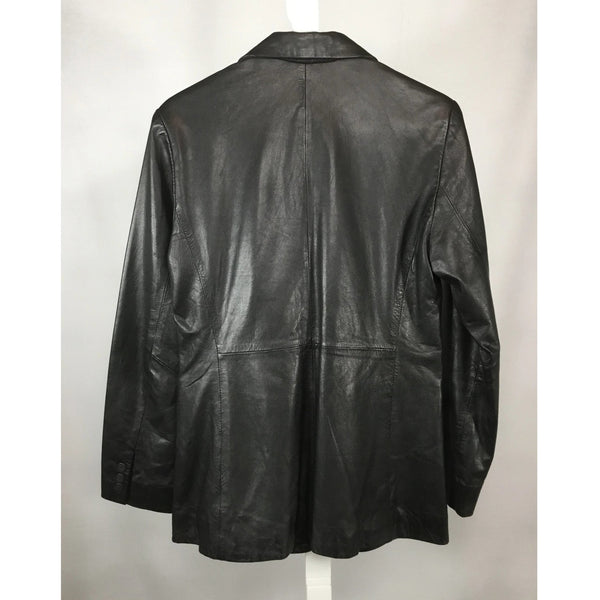 INC leather blazer back
