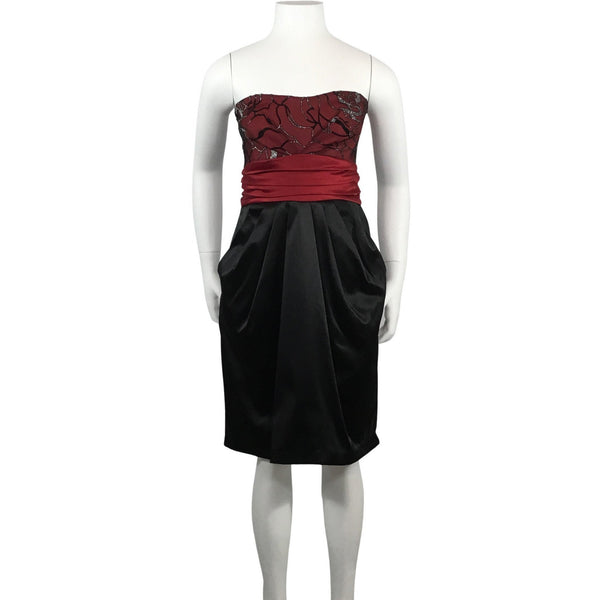Eclipse Strapless Black and Red Dress - Discoveries size XS, Youth size L