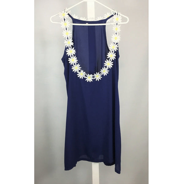 Blue Reversible Daisy Top - Discoveries size M