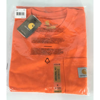 Carhartt Orange Long Sleeve Tee - size S