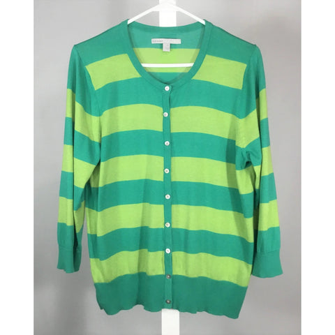 Old Navy Green Striped Cardigan - Discoveries size M, L