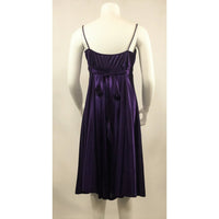 La Scala Purple Stretch Satin Dress - Discoveries size XS, Youth size L